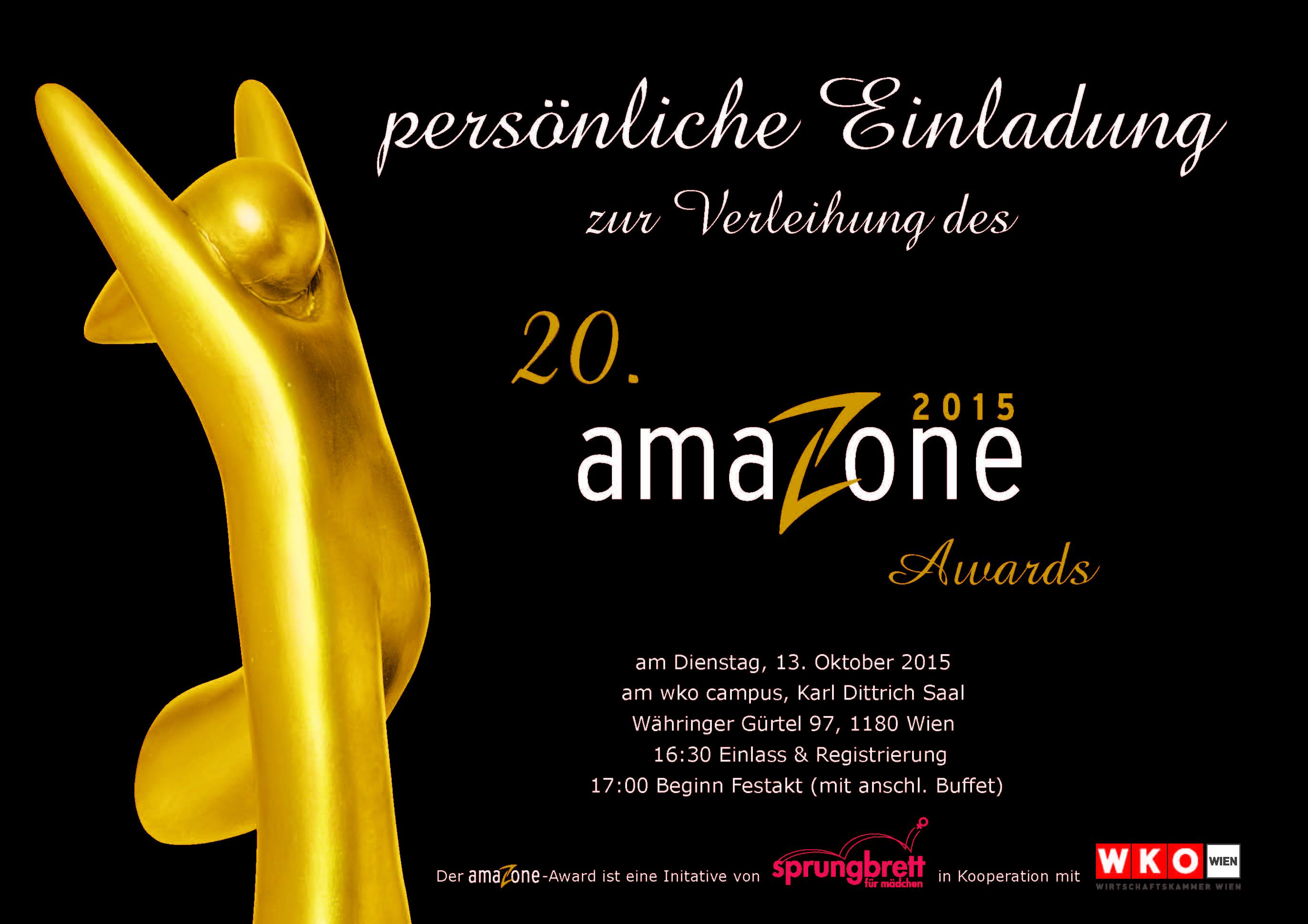 Einladung zum 20. amaZone Award