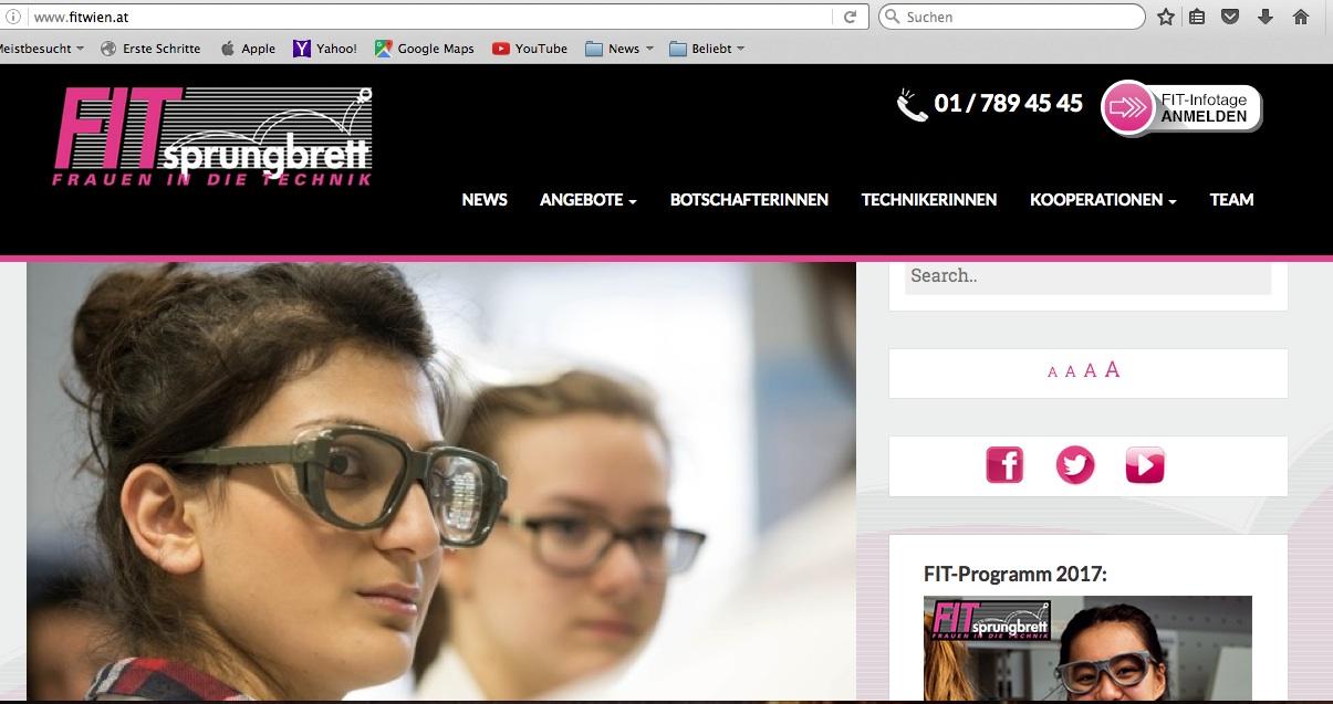 neue Website www.fitwien.at