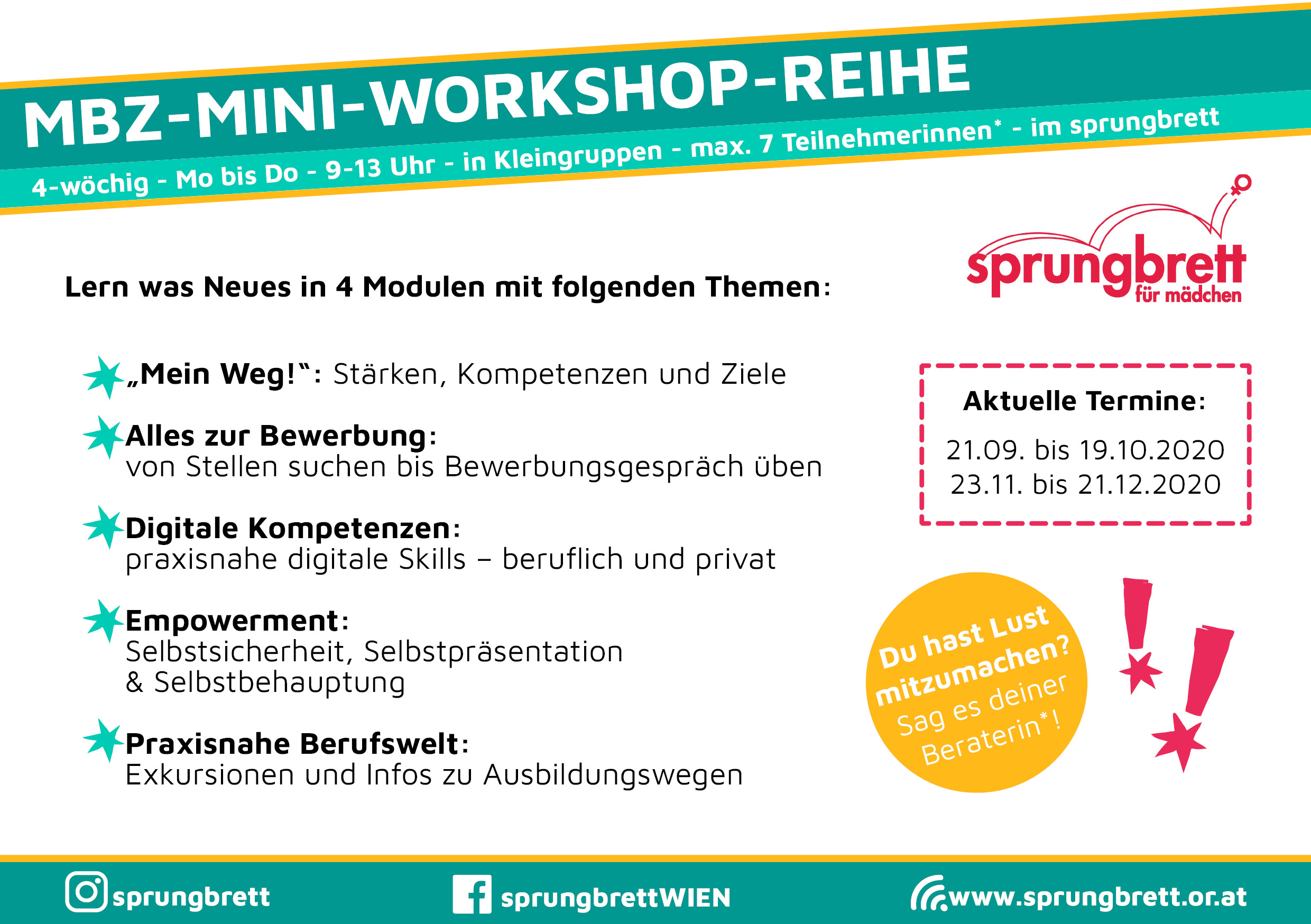 Termine Workshopreihe