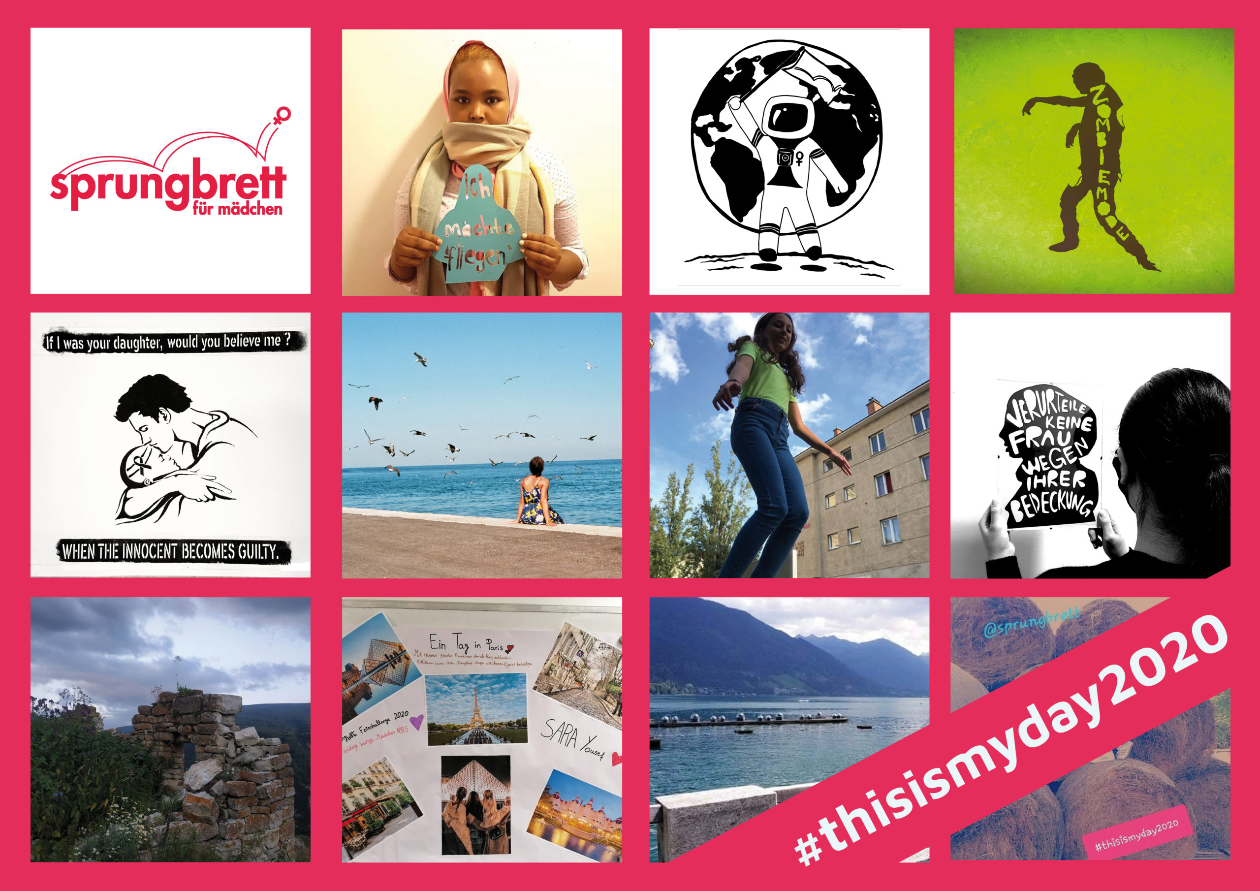 Fotocollage internationaler Mädchentag